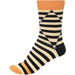 Černo-žluté unisex pruhované ponožky s oranžovým detailem Ballonet Socks Optic