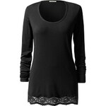Intimissimi Modal and Lace Long-Sleeve Top