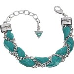 Guess TEAL CHIFFON BRAID CHAIN BRACELET