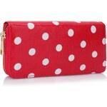 LS Bags puntíkatá peněženka Dotka, malinová