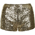 Topshop **Infinity Gold Sequin Mini Shorts by WYLDR