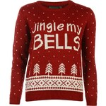 Rock and Rags Jingle My Bells Christmas Jumper, red