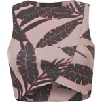 Rock and Rags Leaf Wrap Crop Top, pink print