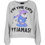 Topshop Cats Pyjamas Loungewear Top