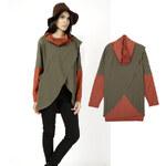 Lesara Langarmshirt im Poncho-Stil - S