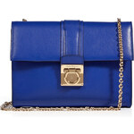 Salvatore Ferragamo Leather Mini Shoulder Bag with Chain Handle