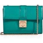 Salvatore Ferragamo Leather Mini Shoulder Bag with Chain Handle