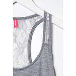 Tally Weijl Grey Vest Top with Lace Back