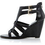 Topshop **Gerad Double Buckle Cage Effect Wedge Sandals by Dune