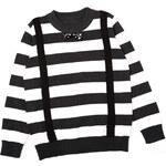 Lesara Gestreifter Kinder-Pullover mit schicken Akzenten - 92