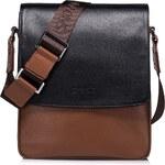 Pánská taška přes rameno Sammons Sport - černo-hnědá