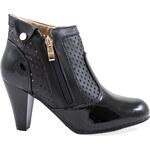 MODERN WORLD Lesklá kotníková obuv MD7162-1B