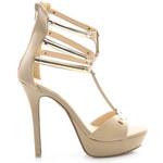 COCO PERLA Béžové rafinované sandály, vel. 41