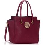 Kabelka London Bags burgundy
