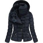 streetIN Dámská zimní bunda - tmavě modrá Velikost: 2XL