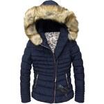 streetIN Dámská zimní bunda - tmavě modrá Velikost: XL