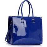LS fashion Dámská kabelka lakovaná LS00319A modrá