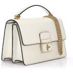 Dolce & Gabbana Damen Handtasche Schultertasche Rosalia Dauphine Leder geprägt weiß