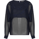 Topshop Embroidery Cape Blouse