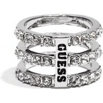 GUESS GUESS Silver-Tone Logo Multi-Row Ring - silver