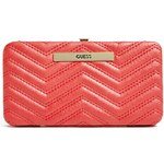 GUESS GUESS Cleopatra Framed Quilted Wallet - red
