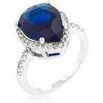 LYRA Prsten s modrým Zirkonem R08286R-C30