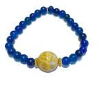 Dámský náramek Agate blue a yellow Mou Jewel