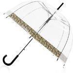 Tom&Eva Transparentní deštník Leopard