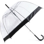 Tom&Eva Transparentný deštník Rain Dots