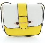 Žluto-bílá kabelka Naela