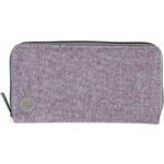 Mi-Pac Šedo-fialová peněženka Herringbone