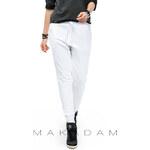 Makadamia Bílé teplákové kalhoty M210