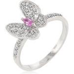 LYRA Prsten s růžovým Zirkonem R08132R-C12