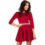 Červené šaty MOE 052