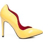 VIA GIULIA Vysoké dámské lodičky - žluté, vel. 36
