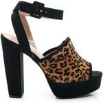 BELLE WOMEN Přepychové leopardí dámské sandále, vel. 37