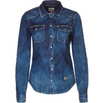 ONLY ROCK IT Bluse dark blue denim