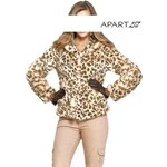 Luxusní dámský kožíšek APART s leopardím vzorem (vel.42 skladem) 42 béžová Dopravné zdarma!