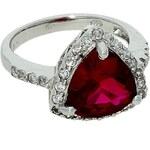 Goldstore Stříbrný prsten rubín se zirkony