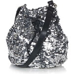 Topshop **Silver Sequin Bucket Bag by Jaded London