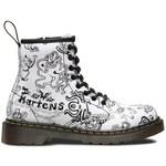 Dr. Martens Juniorské kožené kotníčkové boty (8 dírek) DM15382104