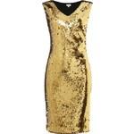 LONDON TIMES Flitrové šaty zlaté barvy
