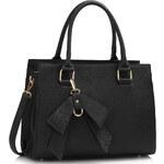 LS fashion LS dámská kabelka s mašlí LS00374A černá