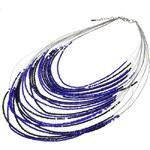 Modrý pružinový fairtrade modrý Náhrdelník Manumit