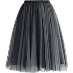 CHICWISH Dámská sukně Tutu Amore šedá