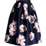 CHICWISH Dámská sukně Broskvový kvítek
