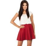 Červená sukně MOE 064