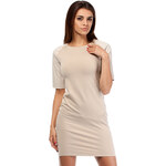 Béžové šaty MOE 174
