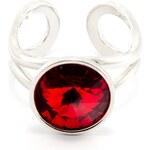 FaBOS Prstýnek swarovski elements rivoli 12 silný - červený