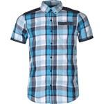 VOI Murray Checked Short Sleeved Shirt, dress blue